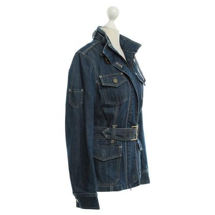 Karen Millen giacca di jeans in blu scuro