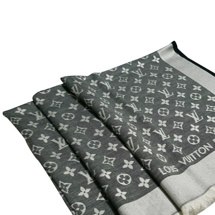 Louis Vuitton Scialle Monogram Nero Denim