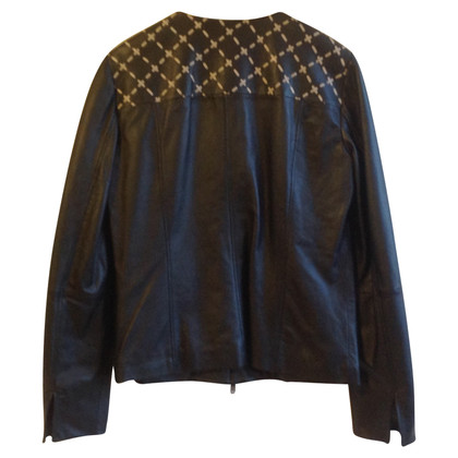 Max & Co Lederjacke mit Web-Detail
