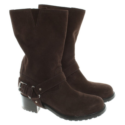 Car Shoe Brown suede boots