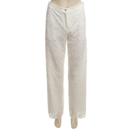 Valerie Khalfon  Lace pants in cream