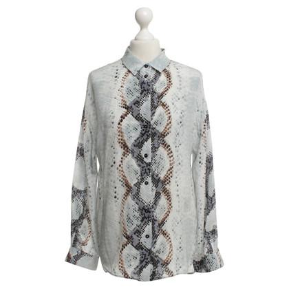 Max & Co camicetta di seta con motivo a serpente