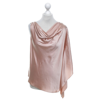 Halston Heritage top in seta in Rosé