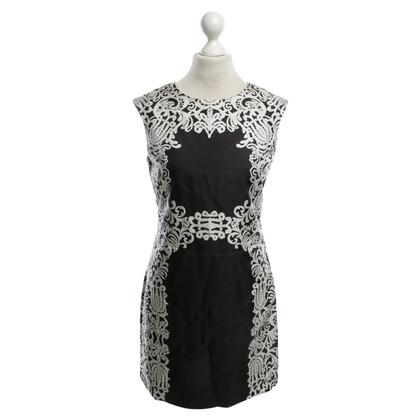 Tibi Robe en noir / blanc