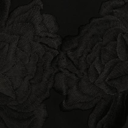 Jil Sander Kleid in Schwarz mit Stickerei am Saum