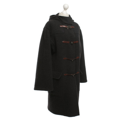 Hermès Cashmere coat in dark gray