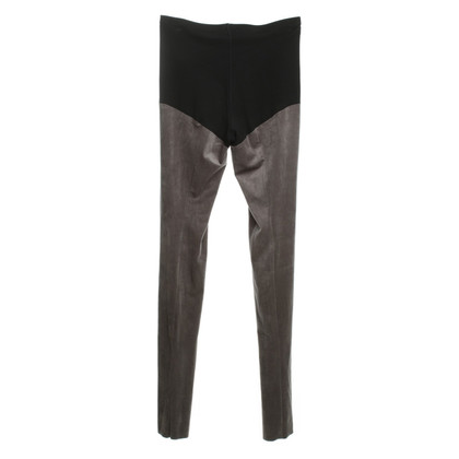 Marc Cain Leggings in Veloursleder-Optik