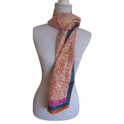 Nina Ricci sciarpa di seta Vintage