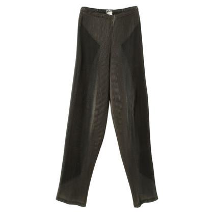 Issey Miyake Pantaloni a pieghe in grigio