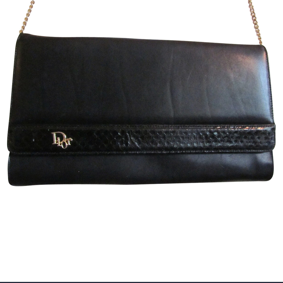 Christian Dior Black Vintage clutch