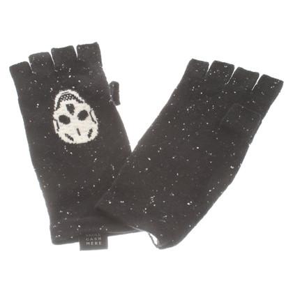 Skull Cashmere Chapeau et gants en cachemire