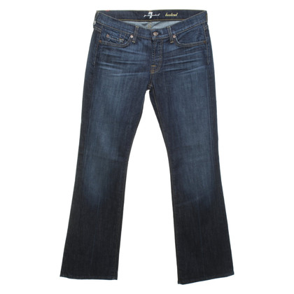 7 For All Mankind Bootcut-jeans in donkerblauw