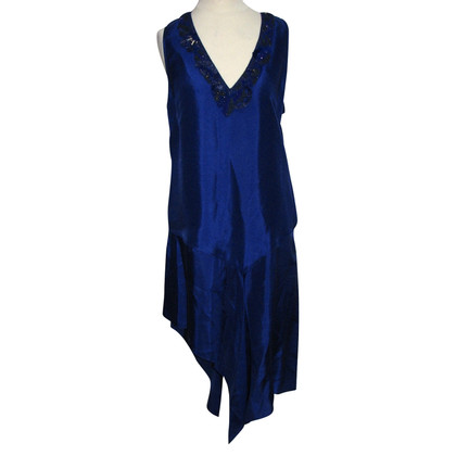 Barbara Bui Asymmetric Silk Dress