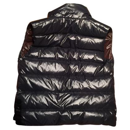 Moncler Mouwloos lederen jas