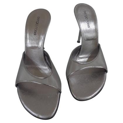 Sergio Rossi Sergio Rossi zilveren sandalen