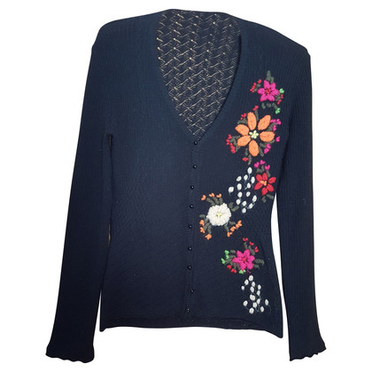 D&G Cardigan sweater with embroidered flowers