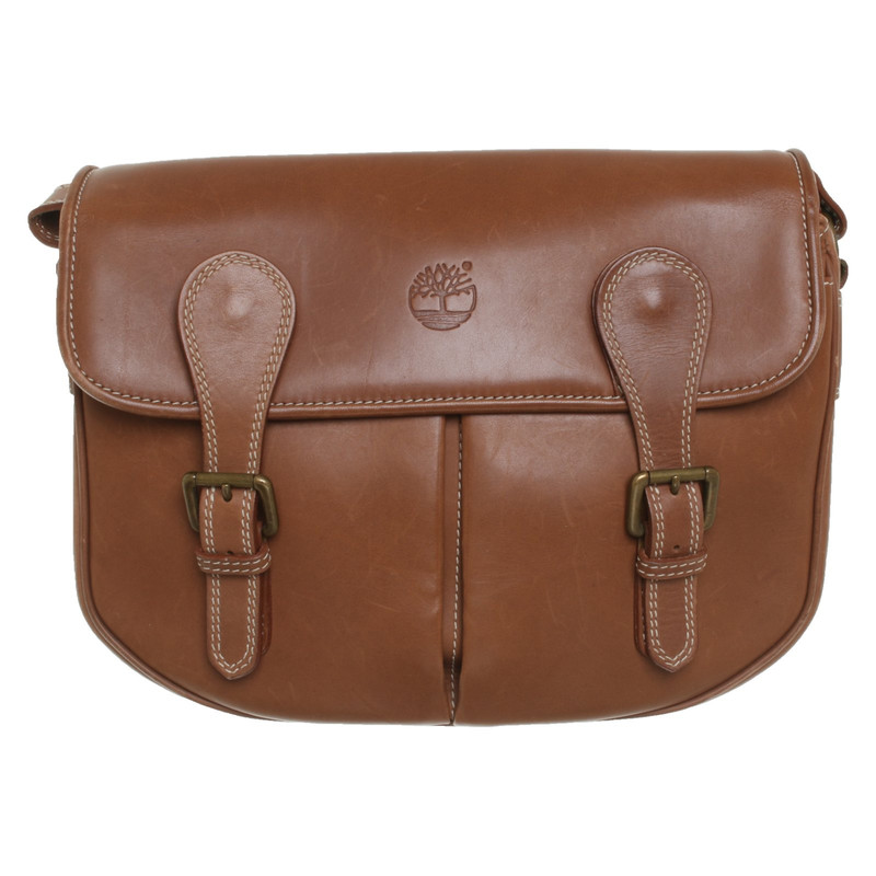 Timberland Borsa a tracolla in Pelle in Marrone Second