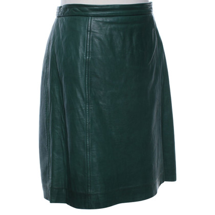 DKNY Leather skirt in green