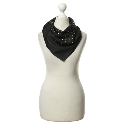 Moschino Polka-dot zijden sjaal
