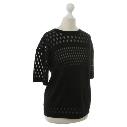 Helmut Lang Knitted top in black