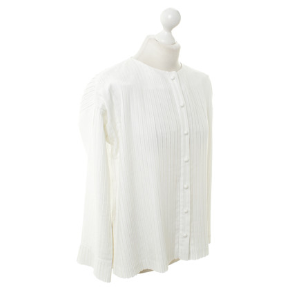 Issey Miyake Pleated blouse in white