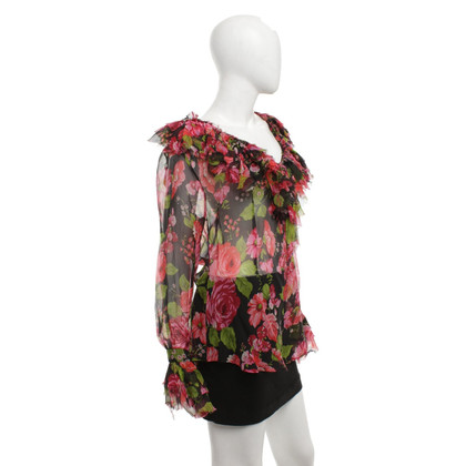 Anna Molinari Silk blouse with floral print