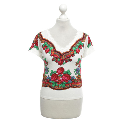 Blumarine Knit top with pattern