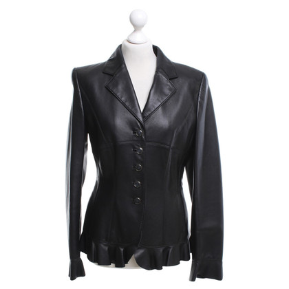 Escada Lambskin blazer in black
