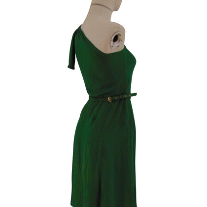 Gucci Gucci green silk dress with belt