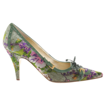 Etro pumps with a velvety feel