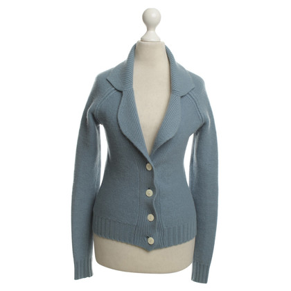 Allude Strickjacke in Blau-Grau