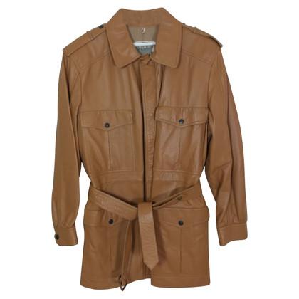 Valentino leather coat