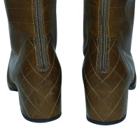 Chanel  QUILTED HEEL ZIPPED KNEE HIGH RIDING