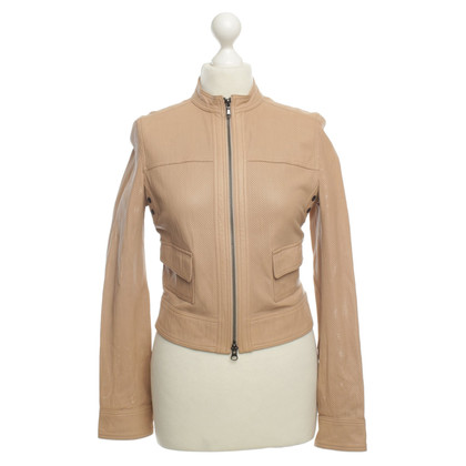Strenesse Blue Leather jacket in nude
