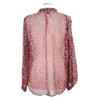 French Connection Transparent blouse with pattern