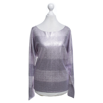 Marc Cain Top con effetto metallico
