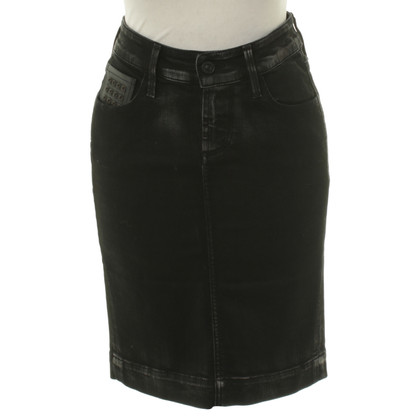 7 For All Mankind Zwarte denim rok