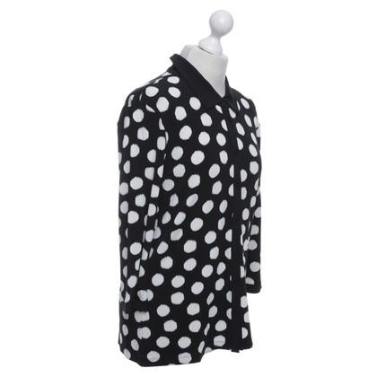 Armani Bluse in Schwarz/Weiß