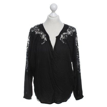 Velvet Top in zwart