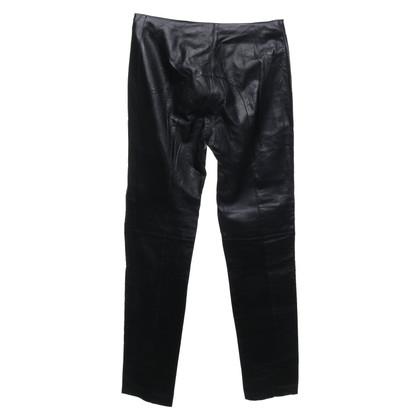 Richmond Pantalon en cuir noir