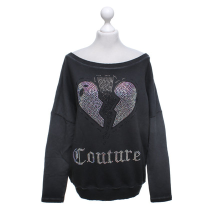Camouflage Couture Sweater with rhinestone trim
