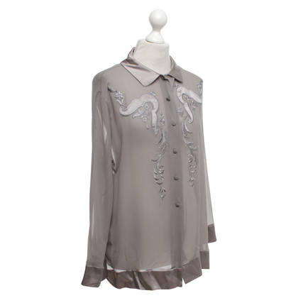 Alberta Ferretti Silk blouse in grey