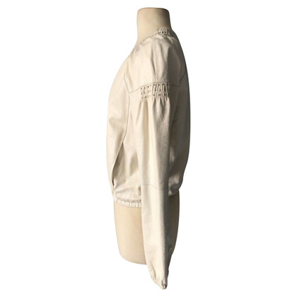 Pinko Leather jacket in cream white