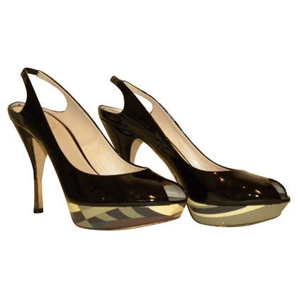 Emilio Pucci Slingback peep toes