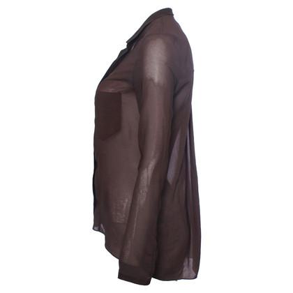 Helmut Lang donker bruin shirt