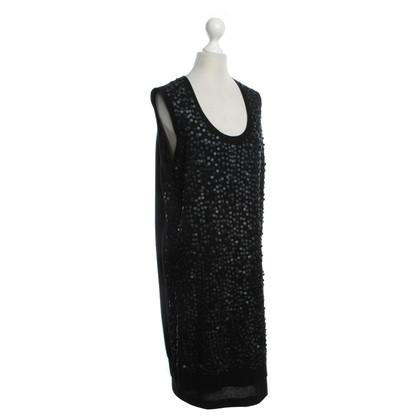 Luisa Cerano Sequin dress in black