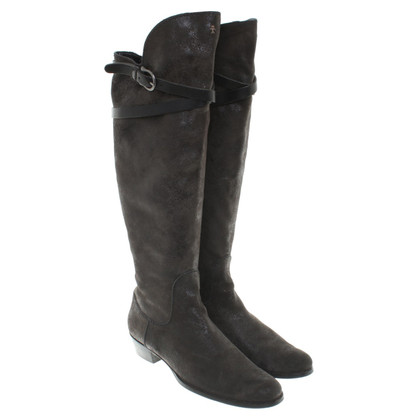 Henry Beguelin Leather boots with coating