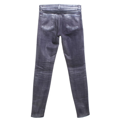 J Brand trousers in silver / grey