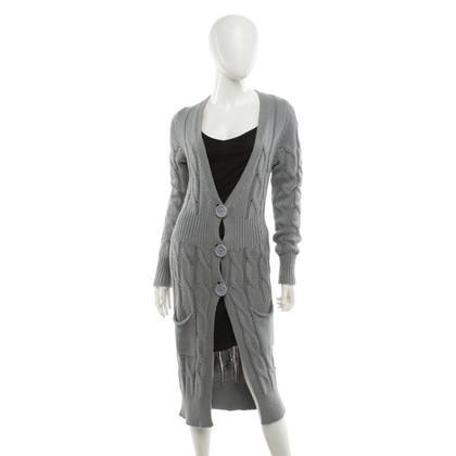 Twin-Set Simona Barbieri Manteau tricoté en gris