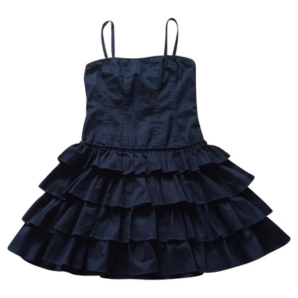 Twin-Set Simona Barbieri Blue dress with ruffles
